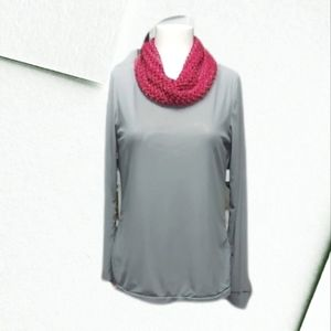 New Condition Tribal Grey Net Top with Free Scarf.